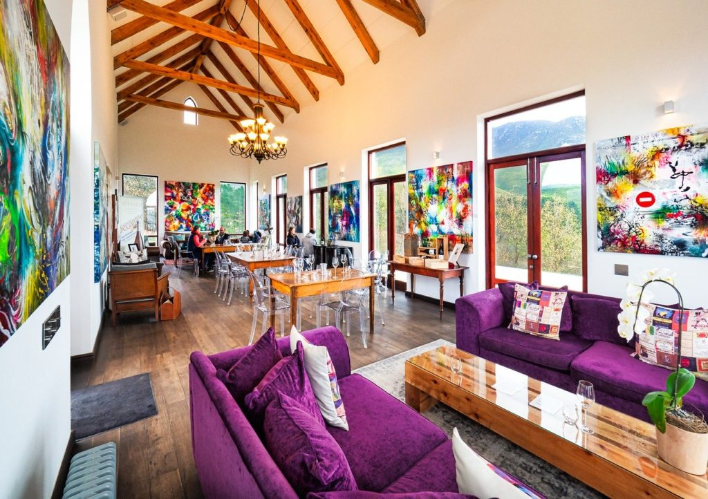 a home with a lot of bold decor
