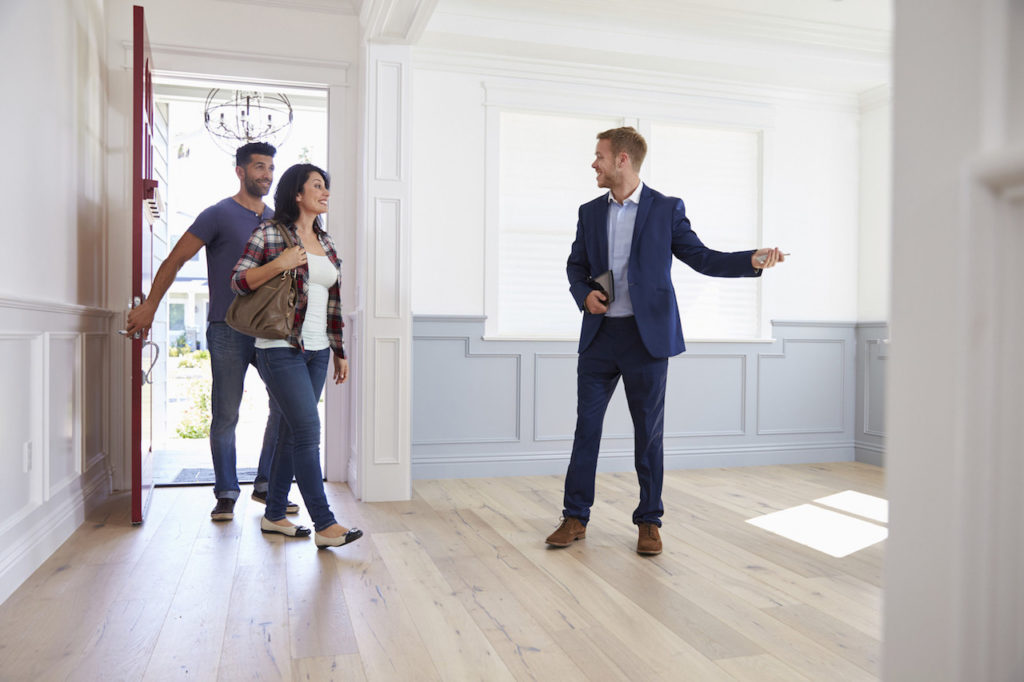 taking buyers on a tour